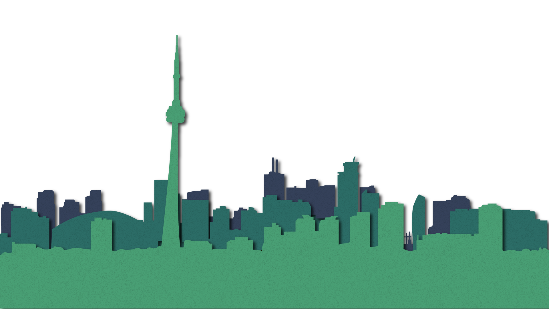 A paper recreation of the Toronto skyline