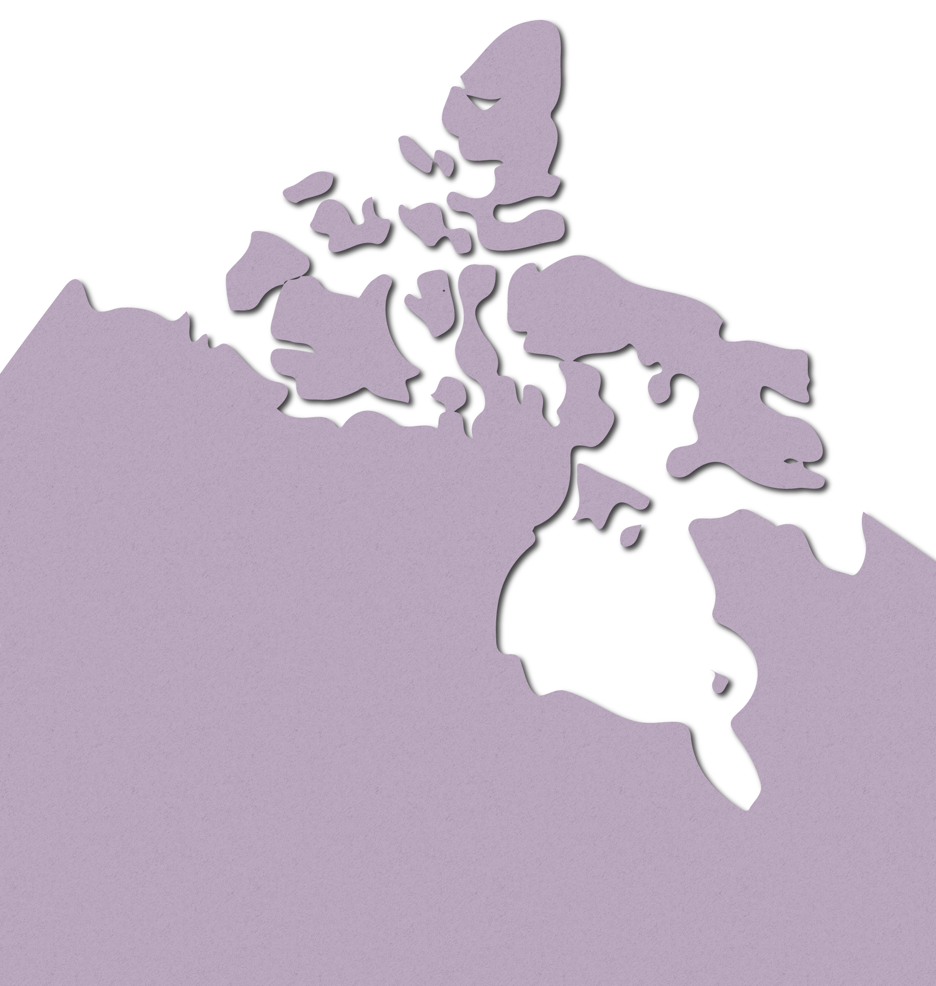 A paper map of Canada